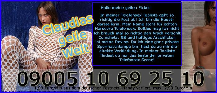1 Privater Telefonsex mit dem Hardcore Luder Claudia